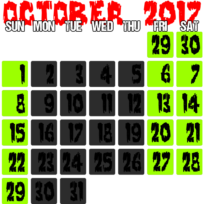 Dates of Operation - Click for Details